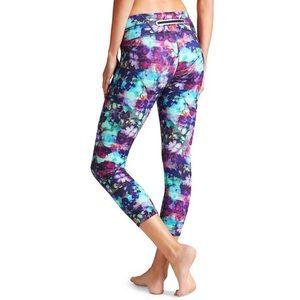 Athleta Floral Fade Sonar Capri Leggings XXS